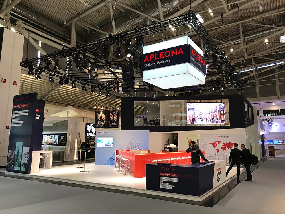 Messestand von APLEONA auf der Expo Real 2017 in München