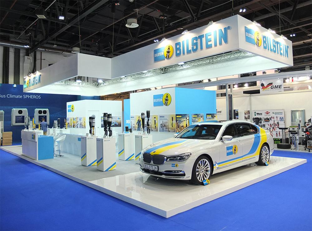 messestand der Firma BILSTEIN auf der Automechanika in Dubai 2017