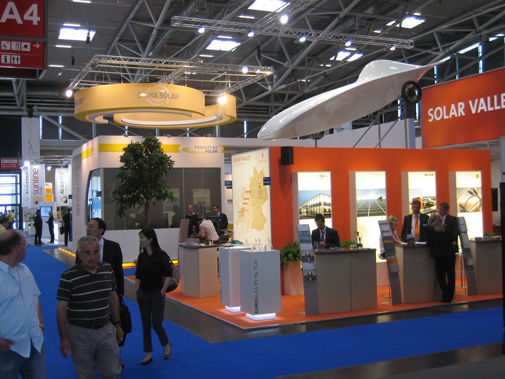 Exhibtion stand China Solar at Intersolar 2011