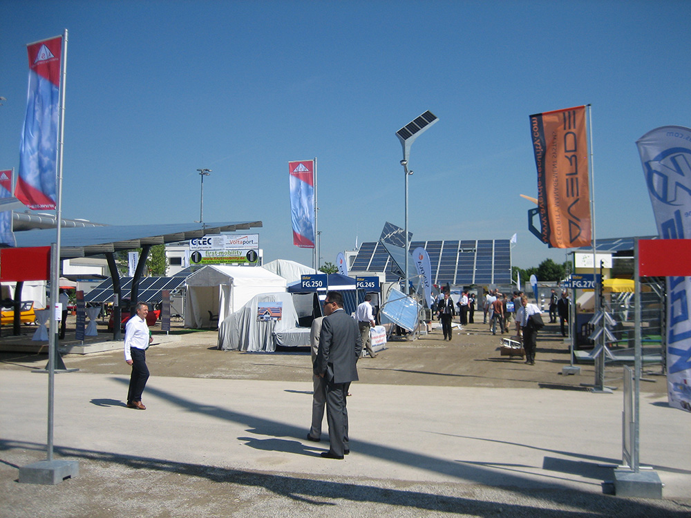 Outdoor area Intersolar Europe in Munich Germany