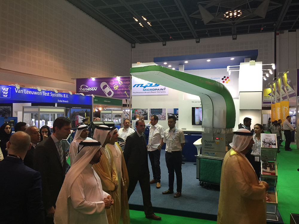 exhibition stand mps micropaint automechanika dubai 2015