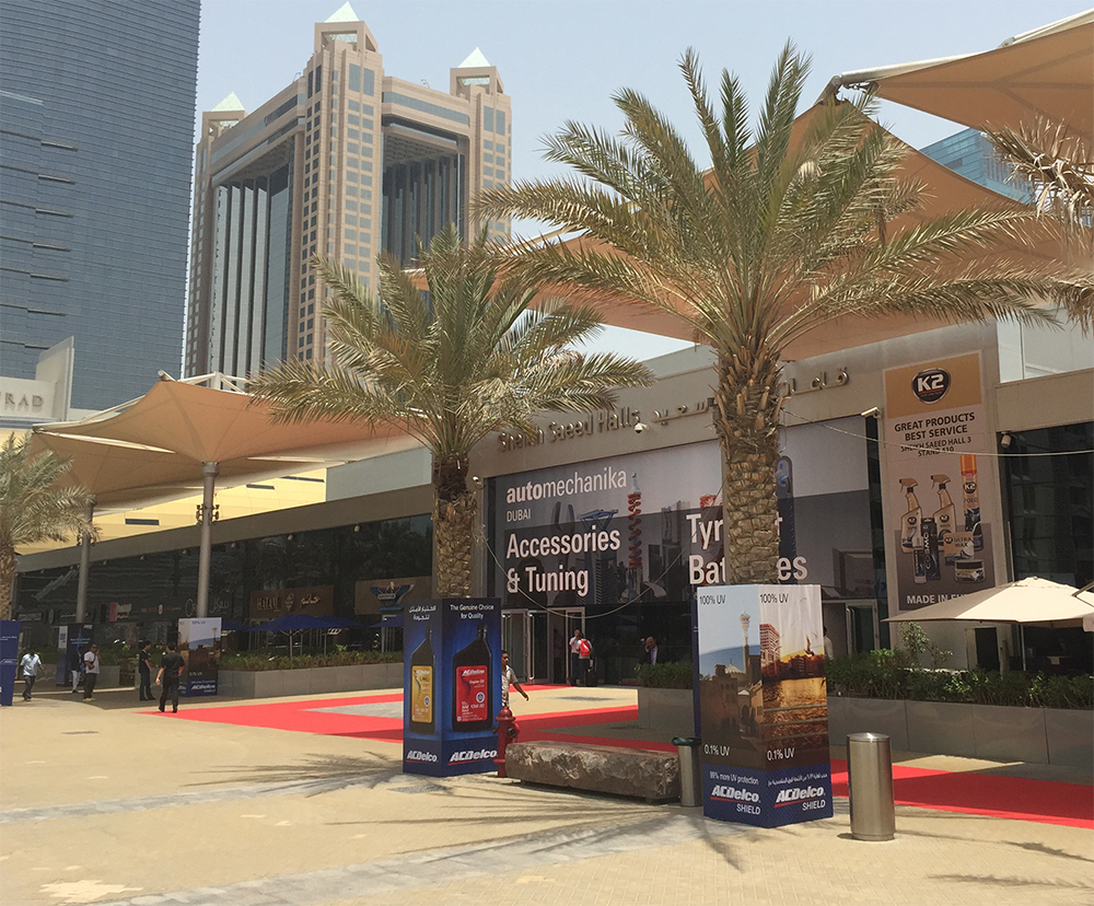 Main entrance automechanika dubai world trade center