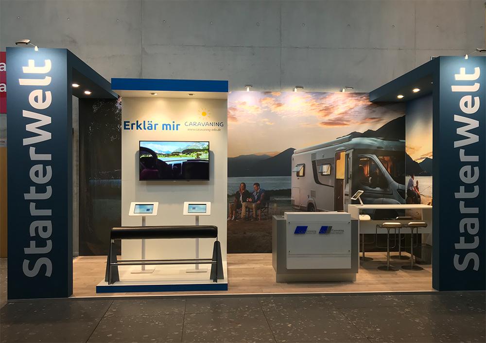 messestand von Caravaning auf der CMT in Stuttgart 2018
