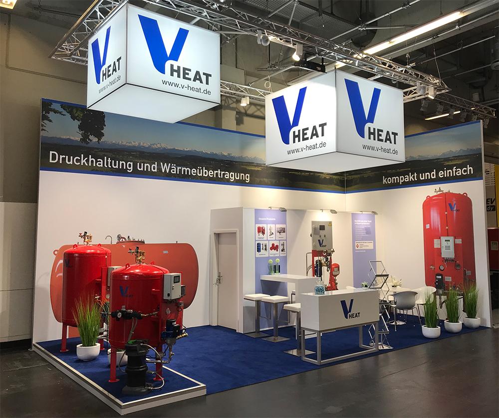 Messestand von v-heat auf der IFH in Nürnberg 2018