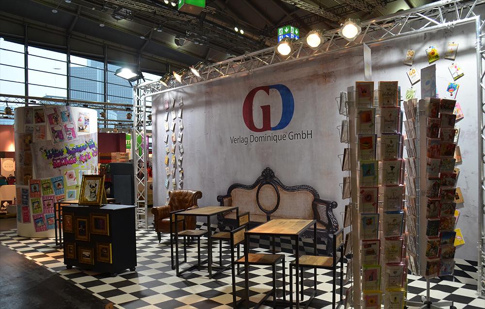 Messestand von Verlag Dominique auf der Paperworld Messe in Frankfurt 2019