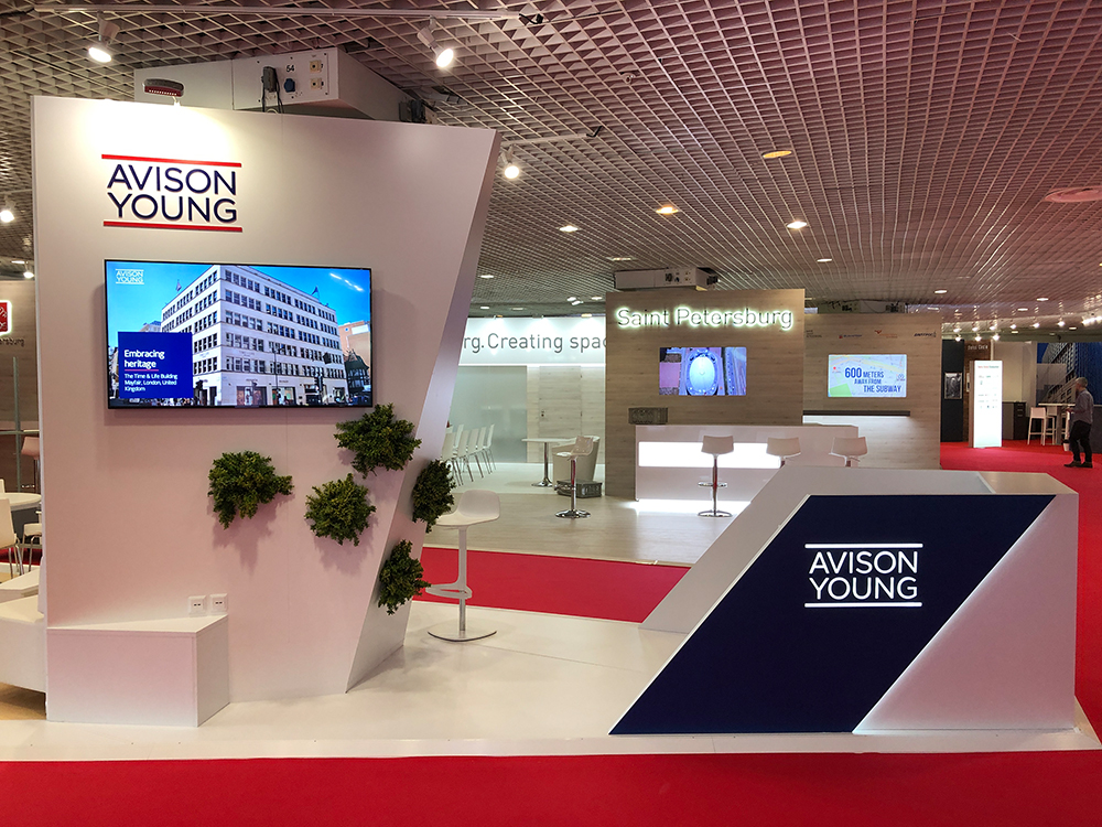exhibition stand Avision Young MIPIM 2019 in Cannes France