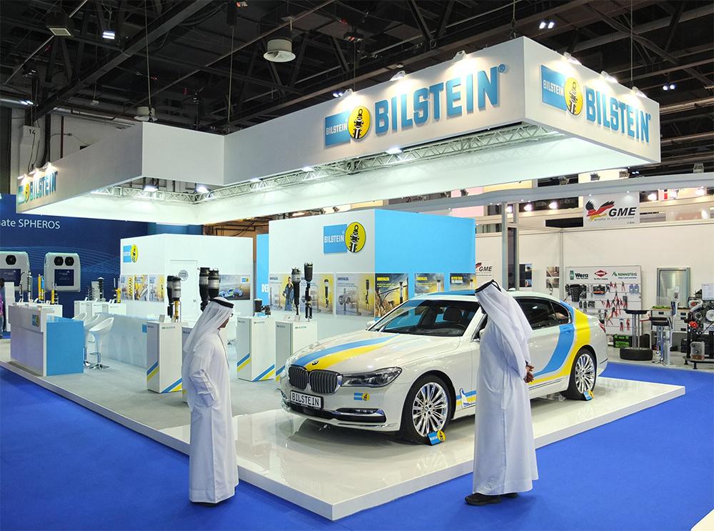 Messestand von Bilstein Thyssenkrupp Dubai Automechanika