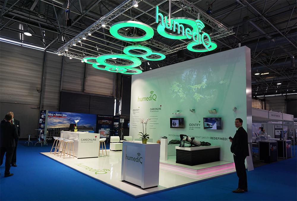 Messestand der Firma humediQ global GmbH auf der ESTRO in Wien