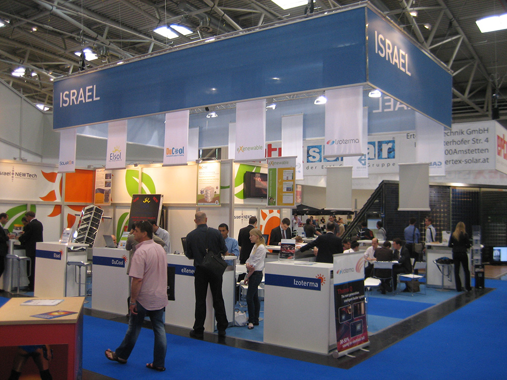 Exhibtion stand of Israel at Intersolar in Munich