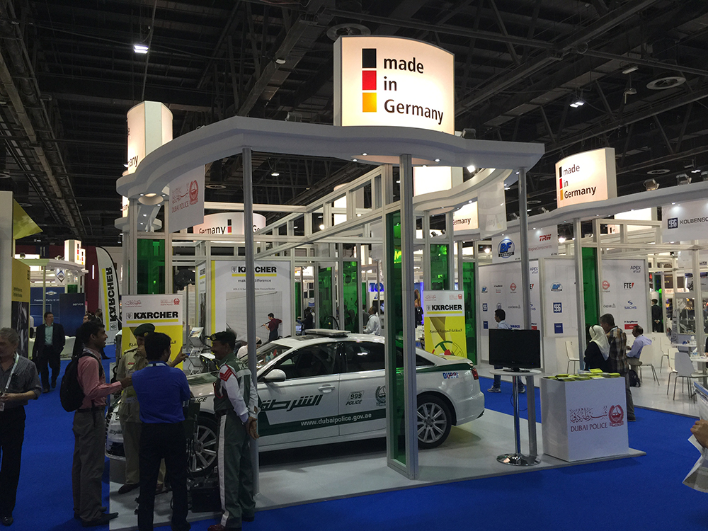 made in Germany exhibition stand automechanika Dubai