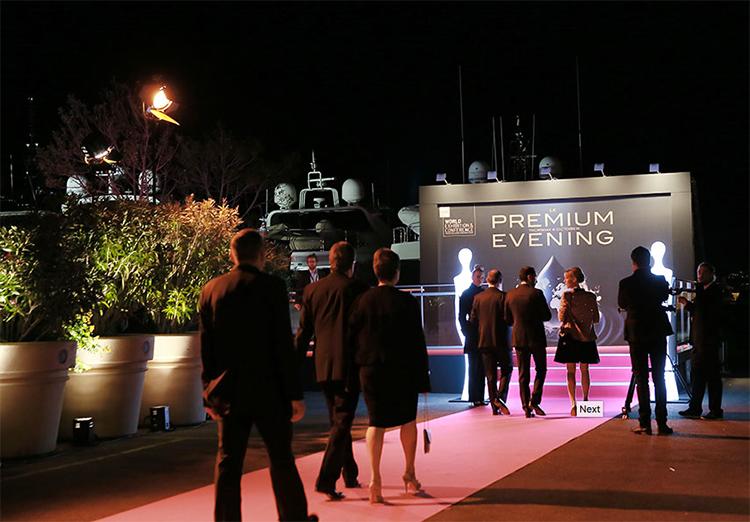 Eingang Premium Evening TFWA Cannes im Yachthafen