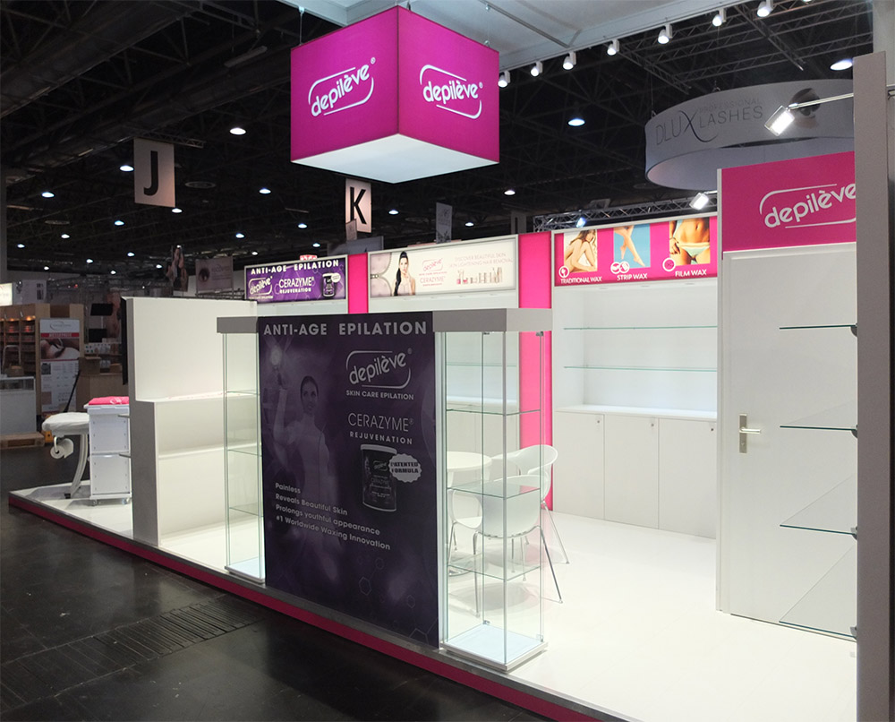 Messestand depileve beauty in Düsseldorf