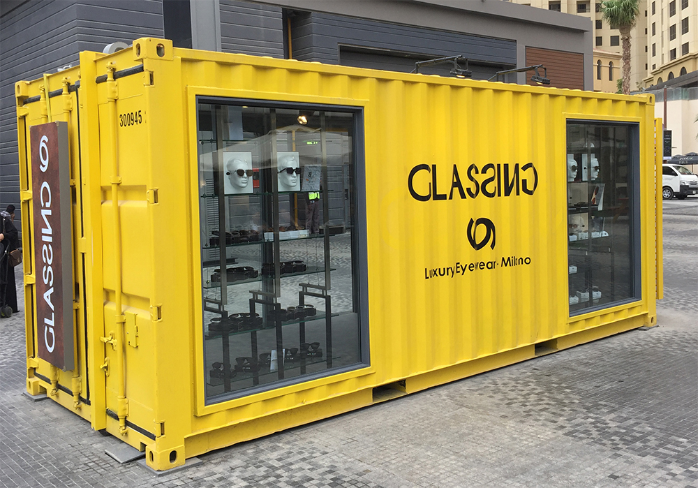pop-up laden store im see container