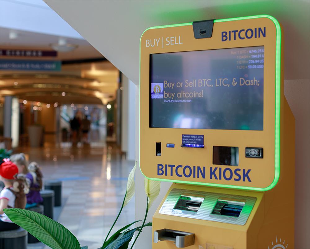 Bitcoin Automat Geldautoma ATM mieten bei expo24seven.