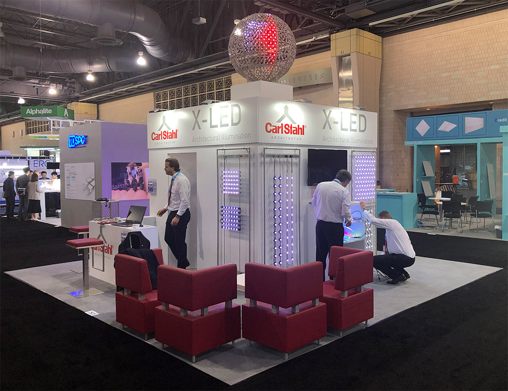 Messestand von Carl Stahl ARC auf der Lightfair Messe LFI 2019 in Philadelphia USA